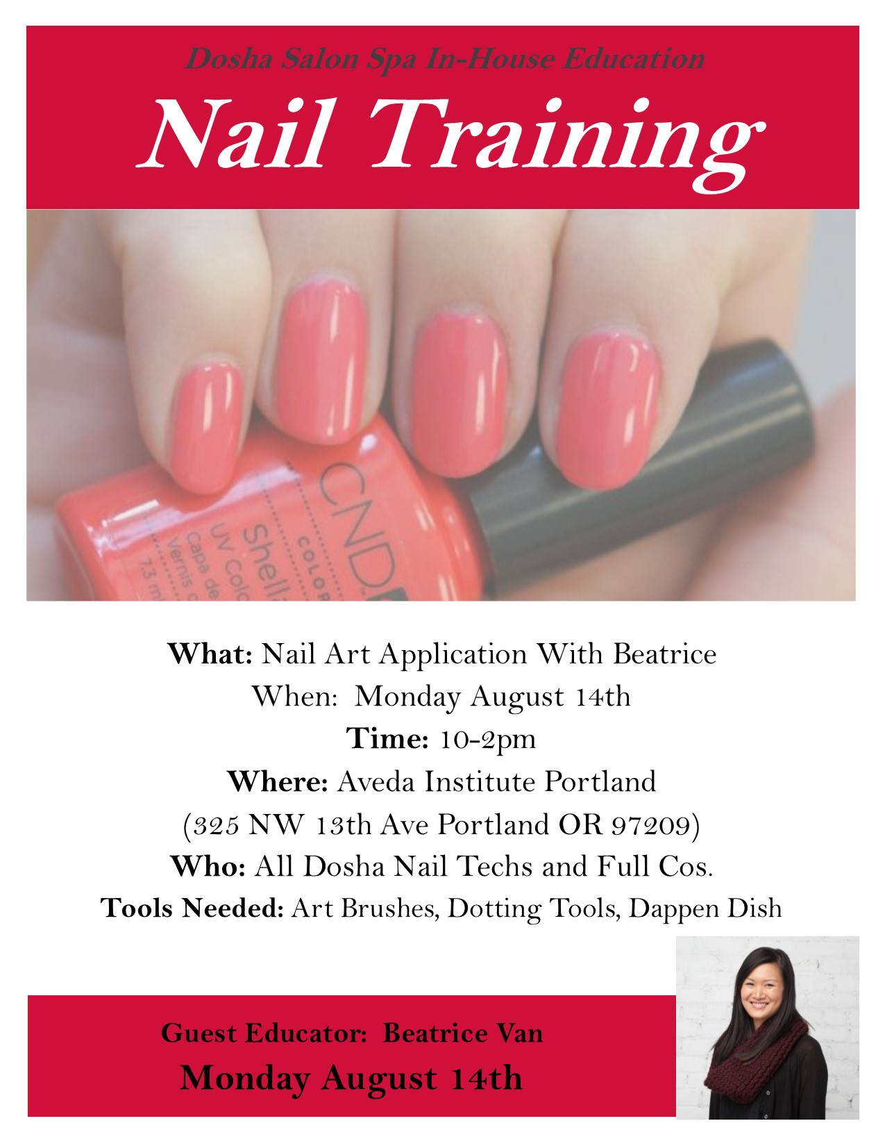 Nail Art Class   Dosha Salon Spa - Portland\'s premier Aveda Salon Spa