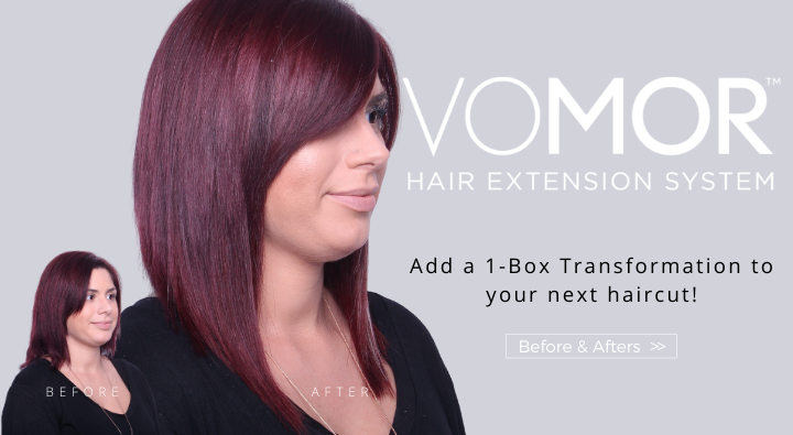 VoMor Hair Extensions gives you thicker fuller hair in 15 minutes. Check out this before and after one box transformation!