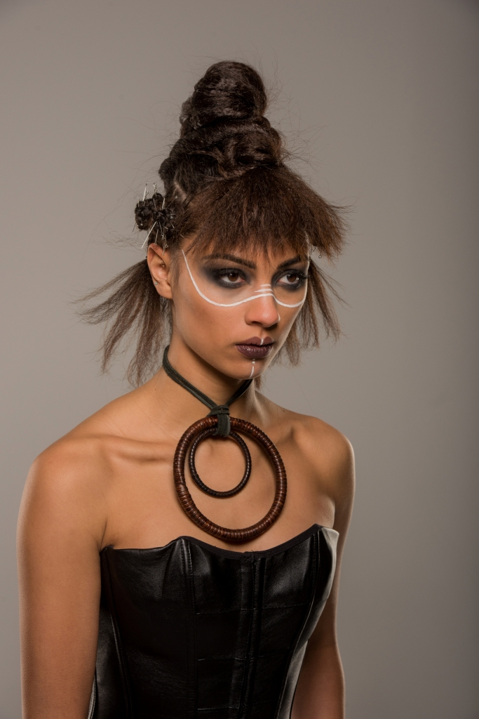 warrior, tribal, hair, makeup, editorial, updo, makeup, strong, bold