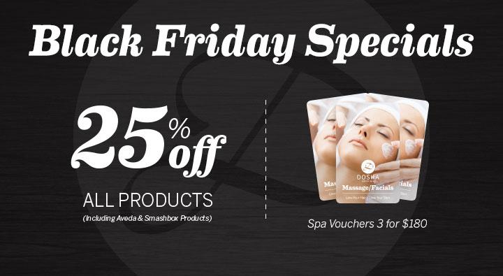 Dosha Salon Spa Black Friday Specials