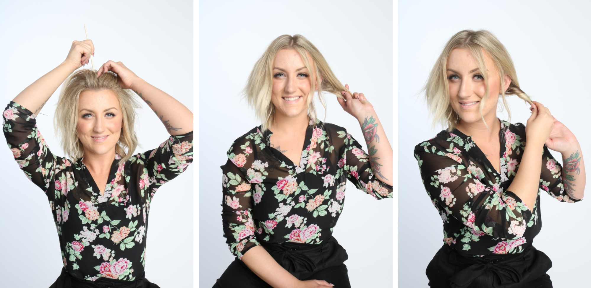 hannah, stylist, master, aveda, professional, office, hair, hairstyle, step by step