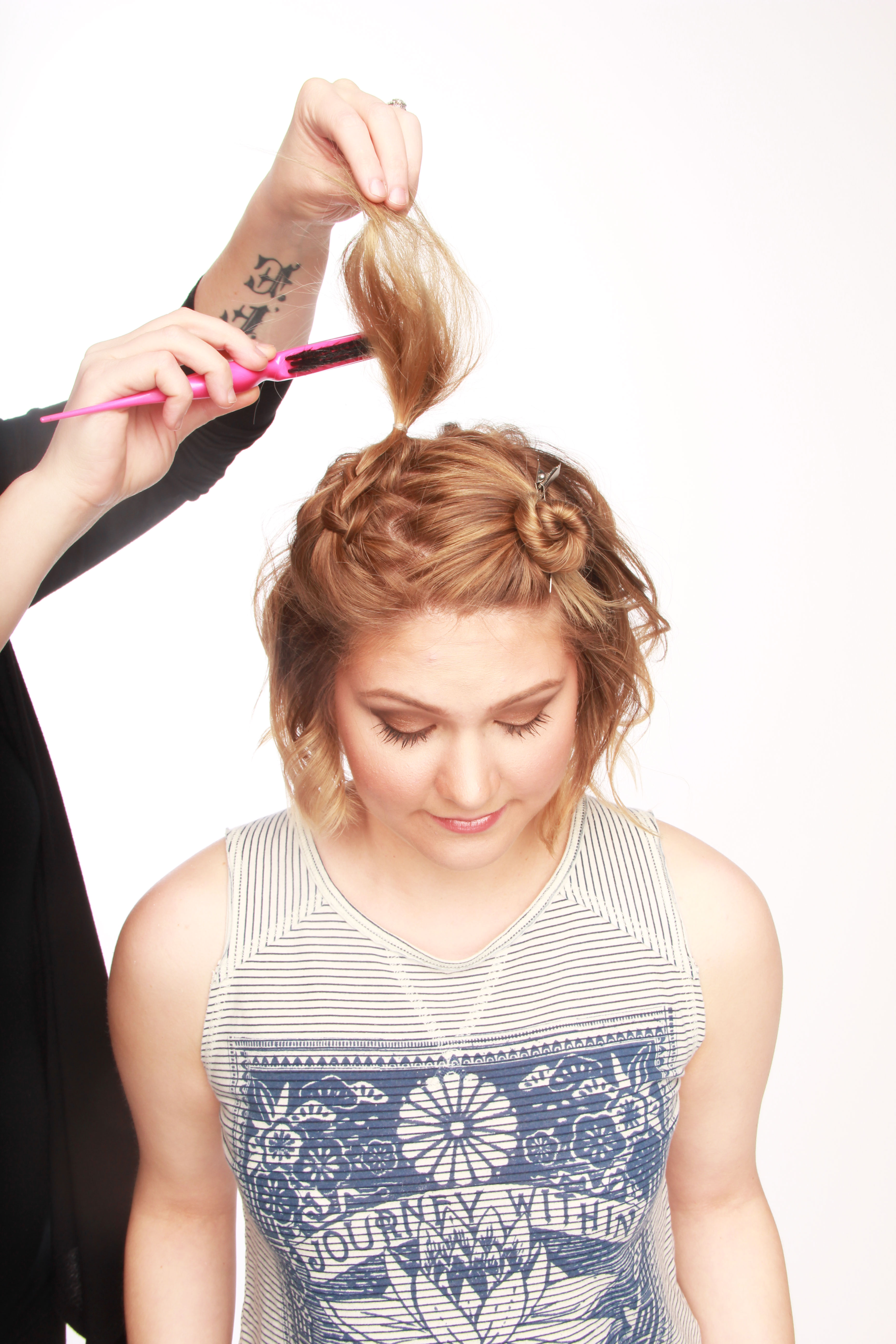 Dosha PDX Aveda Salon mini Buns How To Hair Tutorial Summer hair