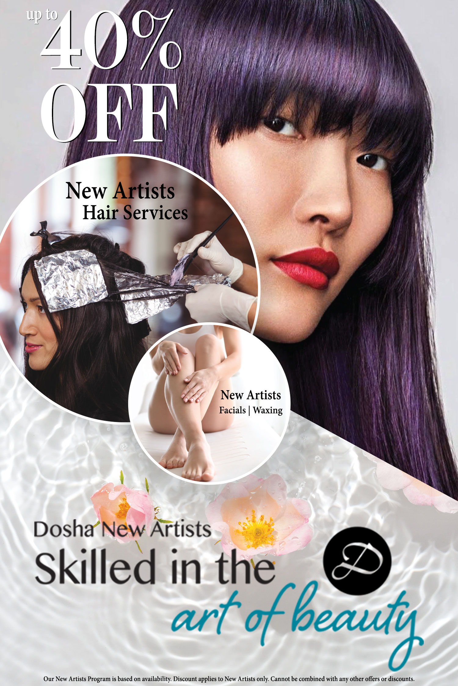 Dosha Salon Spa New Artists - Up to 40% Off Services