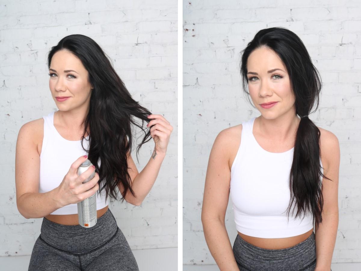 diy, hairstyle, tutorial, gym hair, ponytail