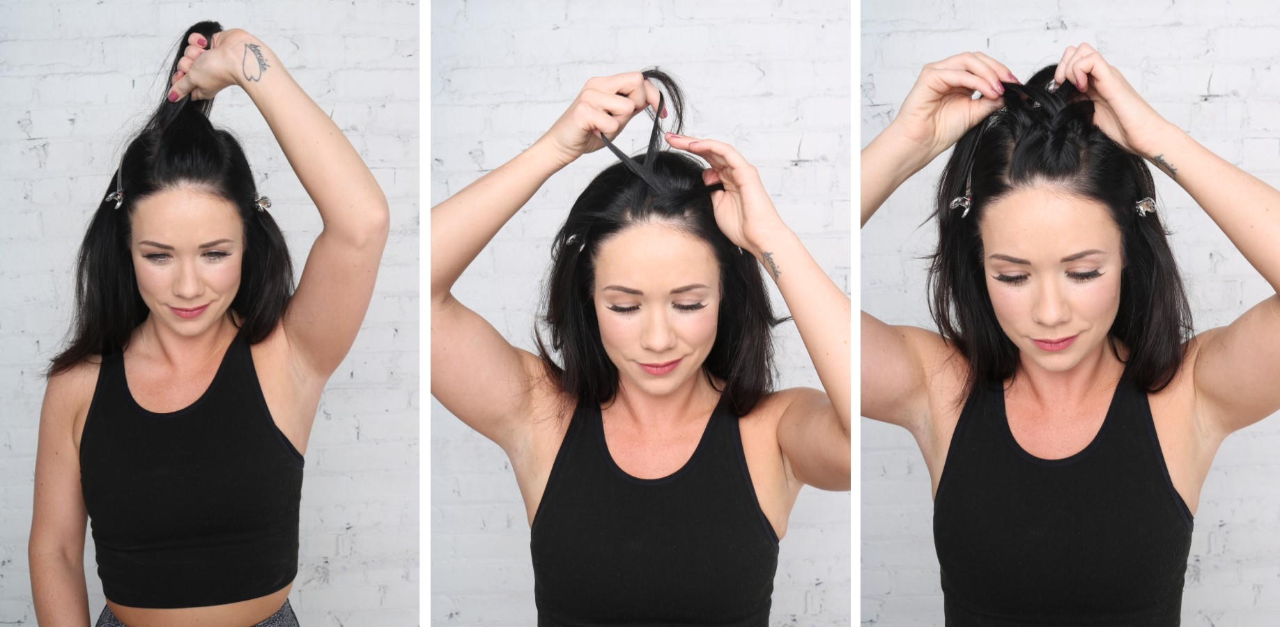 diy, hairstyle, tutorial, gym hair, ponytail