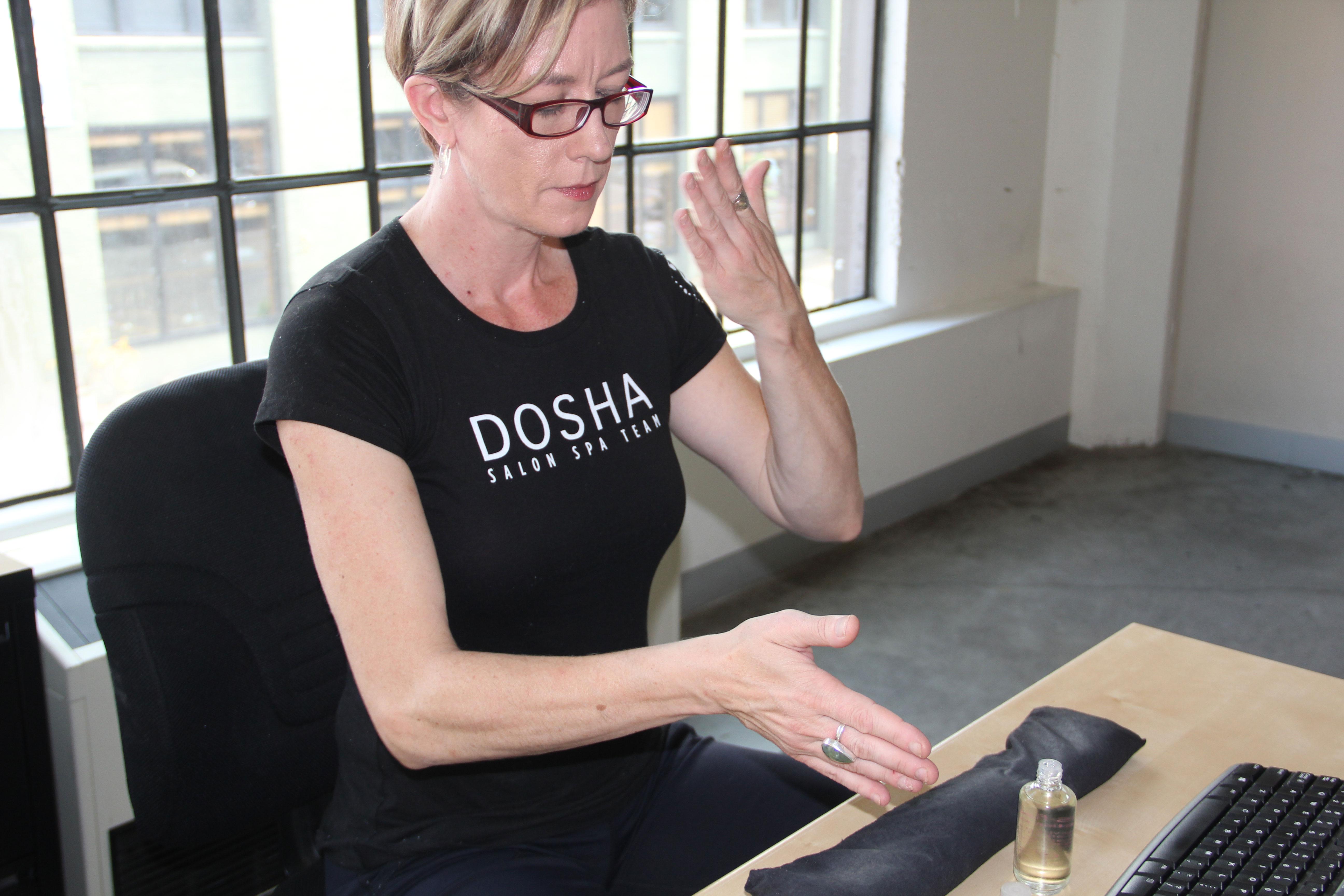 Therapy PDX Dosha Spa Body Wellness Tension relief Aveda Stress Fix