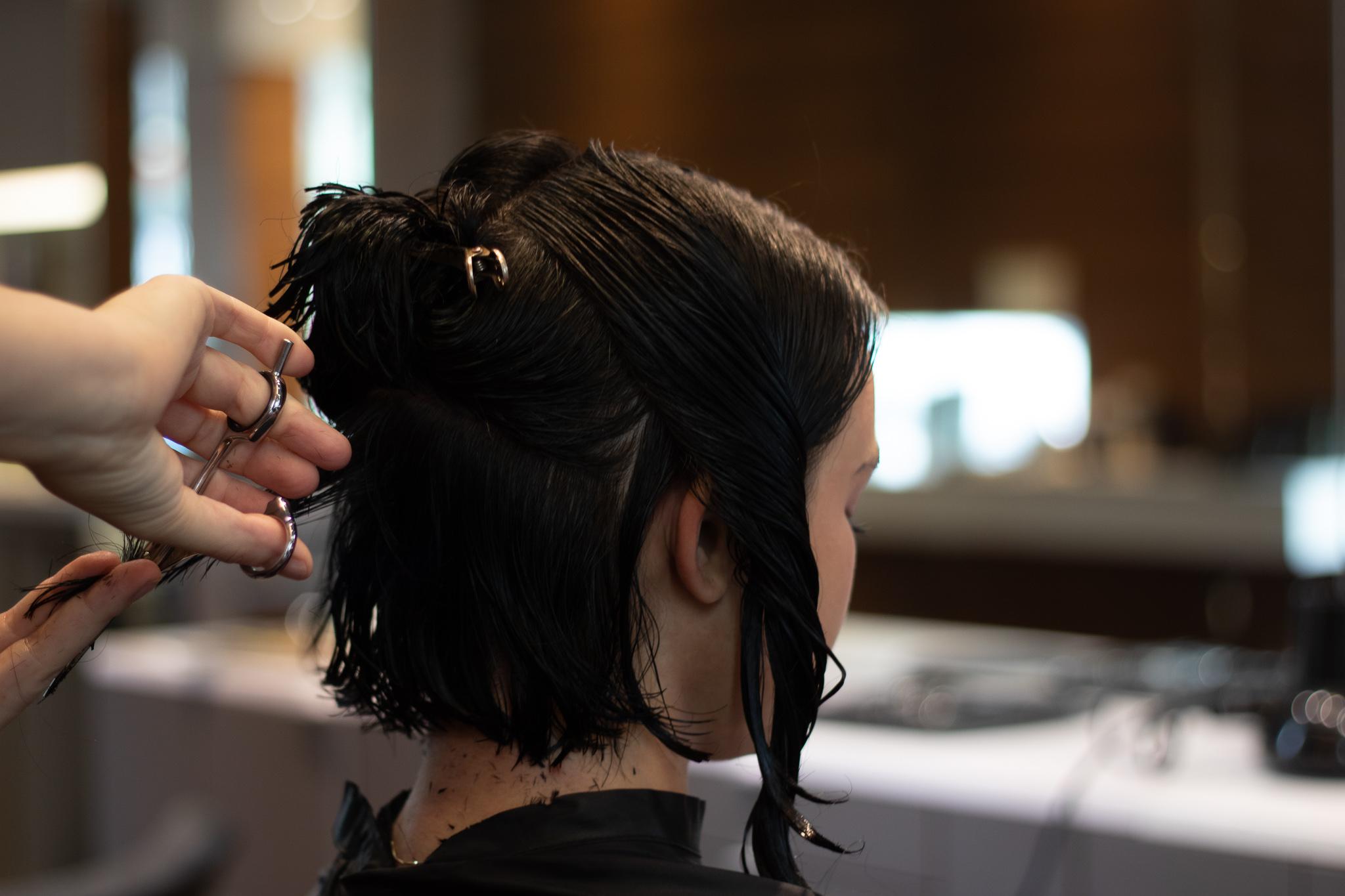 haircut, salon, pdx, portland, bob, short hair, long hair, brunette, transformation