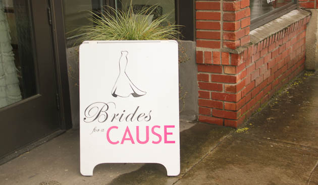 Brides for a cause Dosha Salon Spa Wedding Dress PDX Hair and Makeup