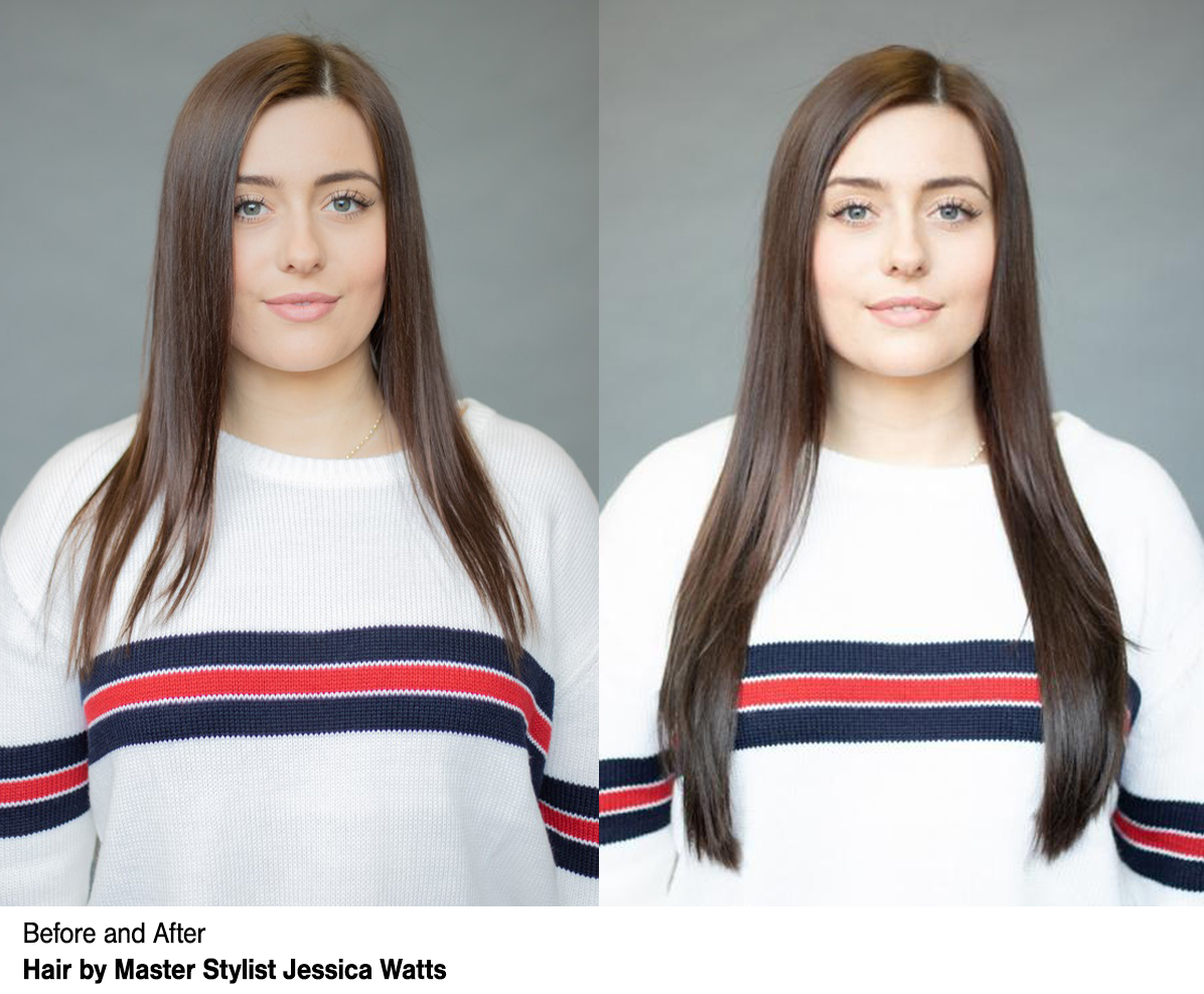 Dosha Salon Spa - VoMor™ Hair Extensions Before & After