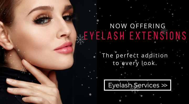 eyelash extensions are the perfect addition to any look. Get set for the holidays with eyelash extensions now offered at Dosha Salon Spa