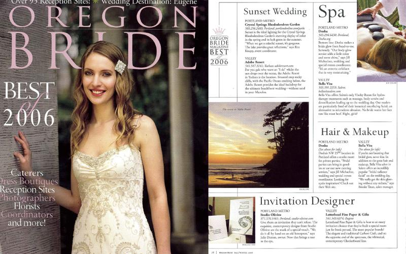 Best of Oregon Bride 2006