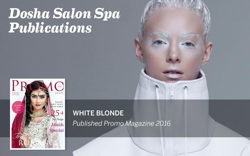 White Blonde Photo Shoot, Dosha Salon Spa