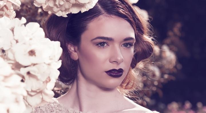 Floral Garden Photoshoot, Fall makeup, updos
