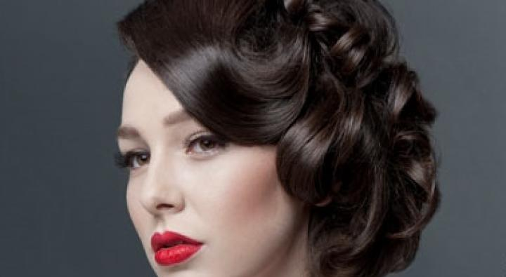 Bridal Updo, Red Lips, Classic Makeup, Cateye