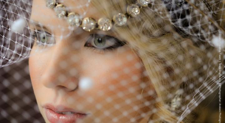Bridal Makeup, bridal veil