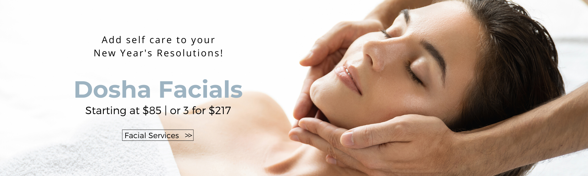 Make self care part of your new years resolution and come in for a signature aveda facial.