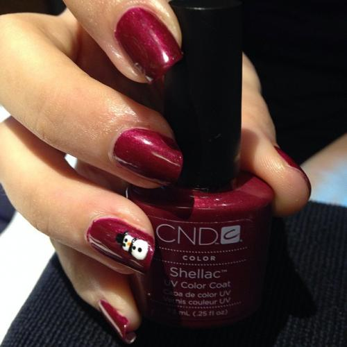 Holiday Christmas Nails Red Dosha Salon Spa