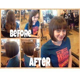 Bob haircut Dosha Salon Spa