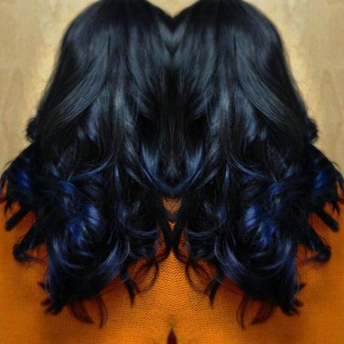 Blue hair color, Ombre, Dosha