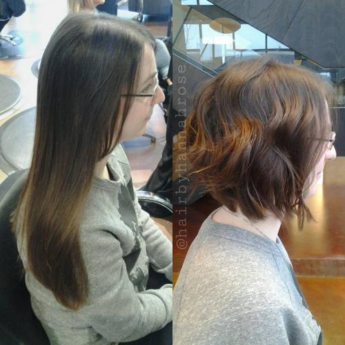 Textured Bob haircut Dosha Salon Spa