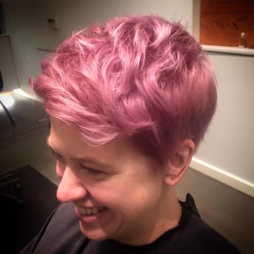 Pink Hair Dosha Salon Spa Aveda  Color