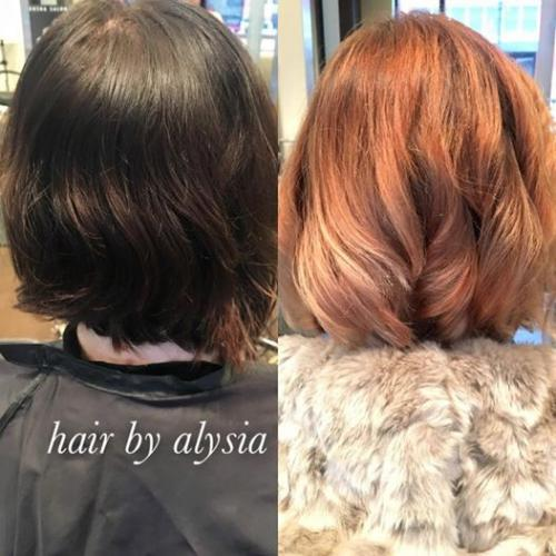 Fire Ombre Hair Color Aveda Dosha Salon Spa