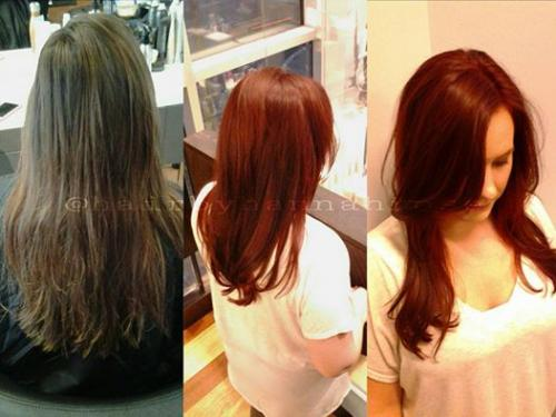 Redhead Red haircolor Aveda Color Dosha Salon Spa