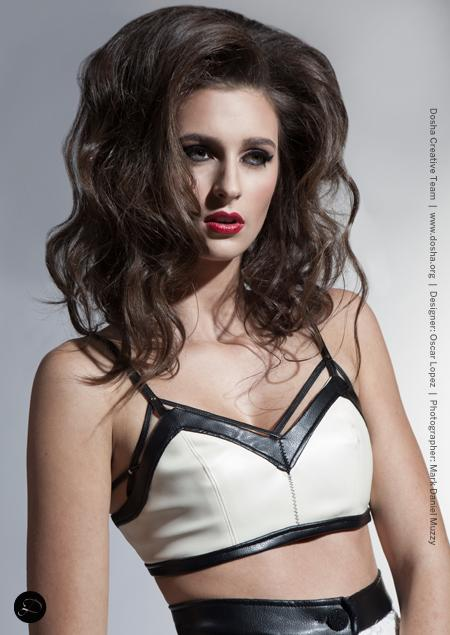 Dosha Creative Team portfolio shoot for local designer Oscar Dominick big sexy voluminous hair