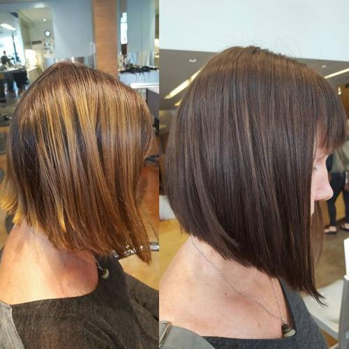 Haircut Angled bob PDX Salon Dosha