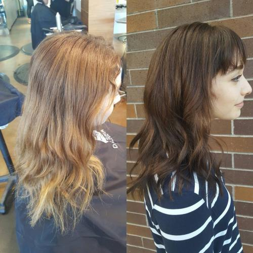 color correction brunette Dosha Salon PDX Hawthorne