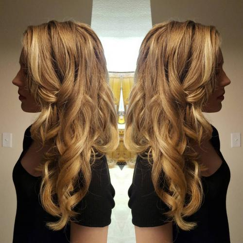 Hair styling curls blonde Dosha Salon Spa