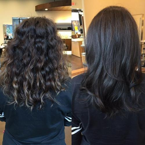 Textured hair Smooth Aveda Dosha Salon PDX