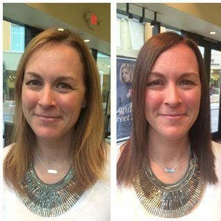 Blonde to Brunette Dosha Salon Spa