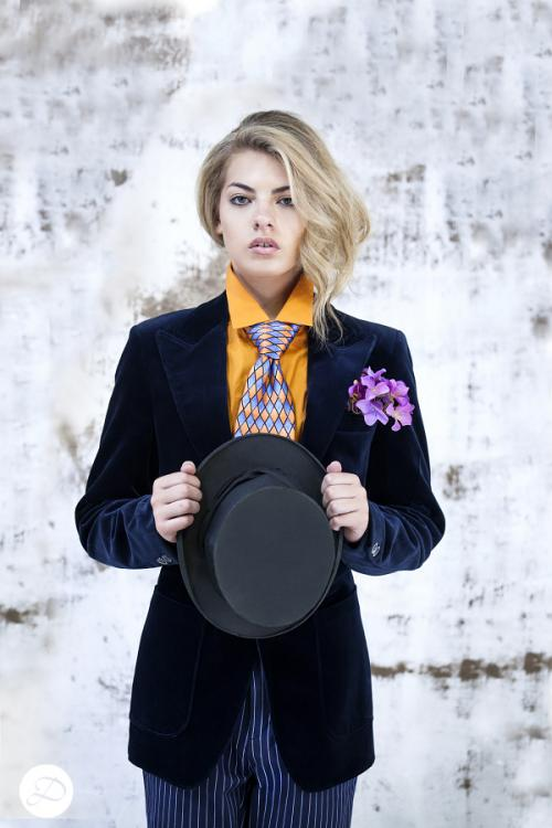 Dosha Creative Team fall fashion 2015 London street style mad hatter velvet suit