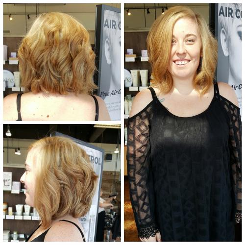 blonde Aveda Hair color Dosha Salon Spa PDX
