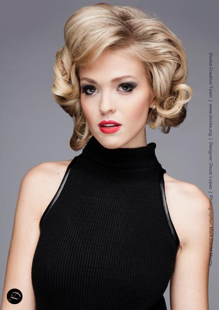 Dosha Creative Team portfolio shoot for local designer Oscar Dominick Sexy blonde voluminous hair