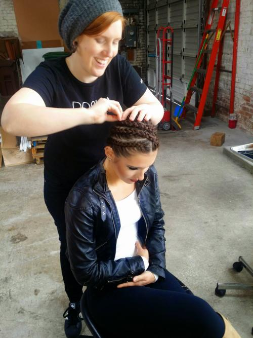 Hairstyling on-site photoshoot