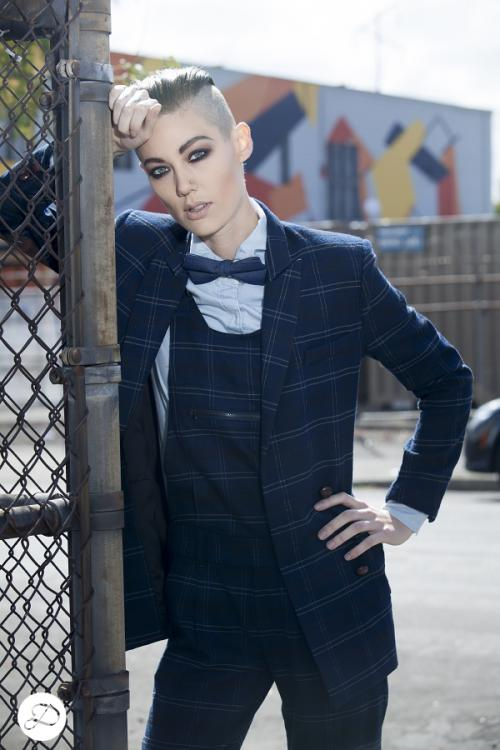 Dosha Creative Team Girly Man Photoshoot androgynous women undercut men's women's suits