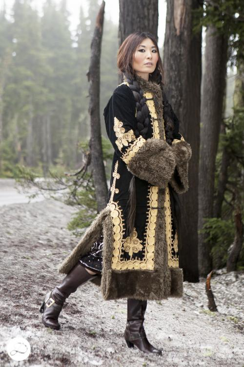 Dosha Creative Team Winter Photoshoot Tibetan fur snow Siberian