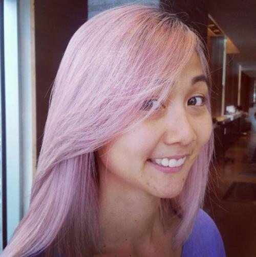 Pink Hair Color Aveda Dosha salon PDX Portland