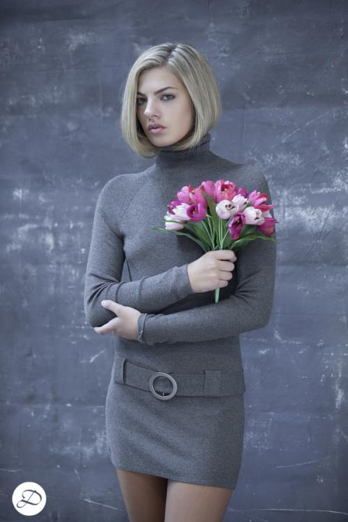 Dosha Creative Team fall fashion 2015 sweater dress blond bob tulips
