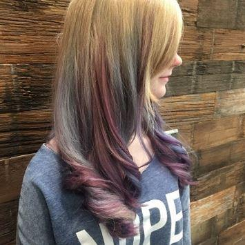 Purple Pink Hair Color Aveda Dosha Salon Spa