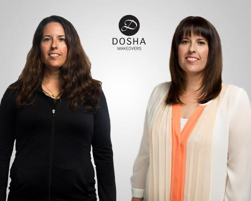 Dosha Creative Team Makeover Phototshoot long round layers sexy mom