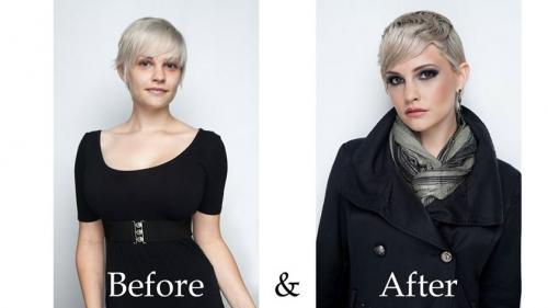 Before and after hair, short hair, dosha