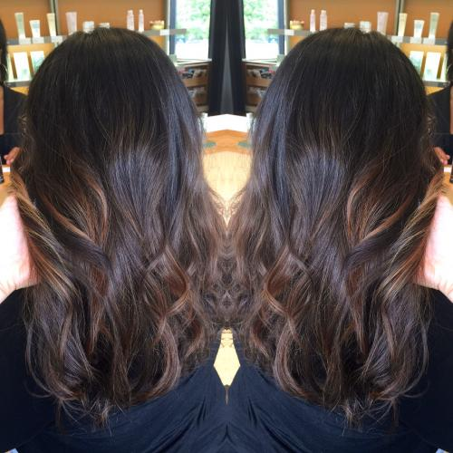 Brown Colored Hair Dosha Salon Spa