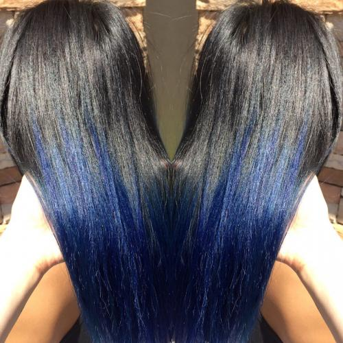 Black Blue Hair Color Dosha Salon Spa