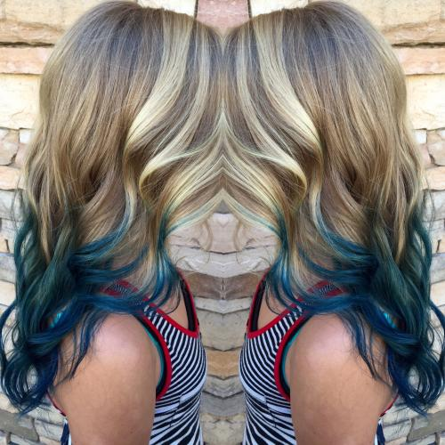 Blue Tip Hair Color Dosha Salon Spa