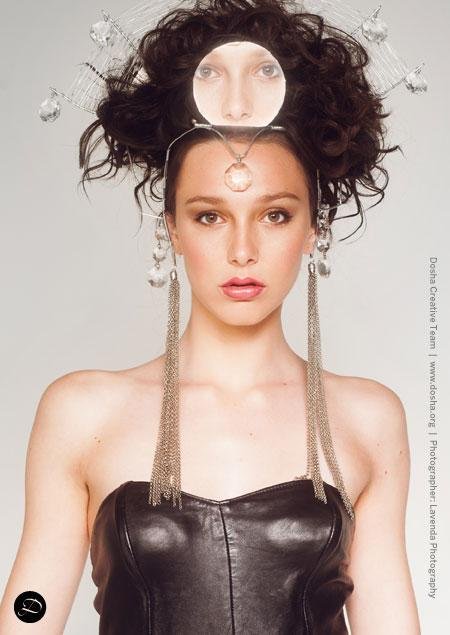 Portland Fashion Week Fall Wendy Ohlendorf design metal crown costume Egyptian godess
