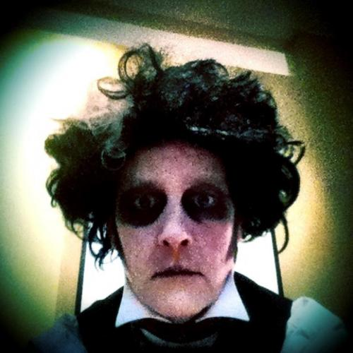 Edward Scissorhands Halloween makeup 2011