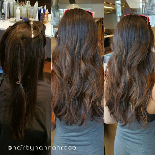 brunette with highlights hair color, Dosha Salon